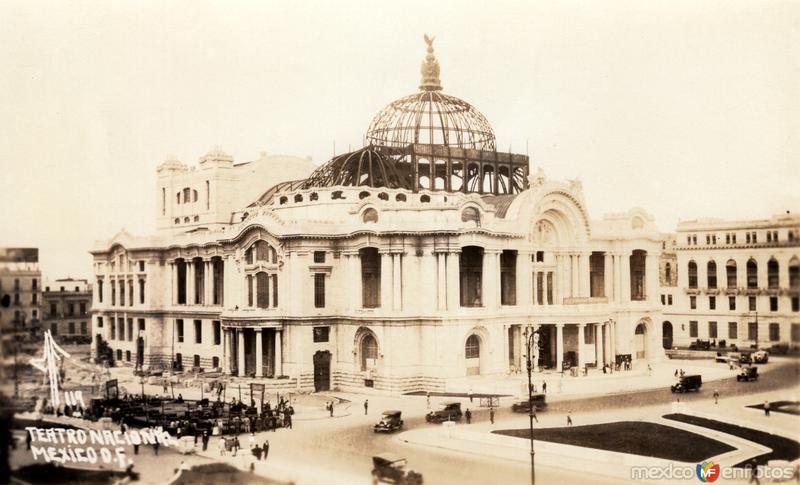 Contrucción del Teatro Nacional (Palacio de Bellas Artes)