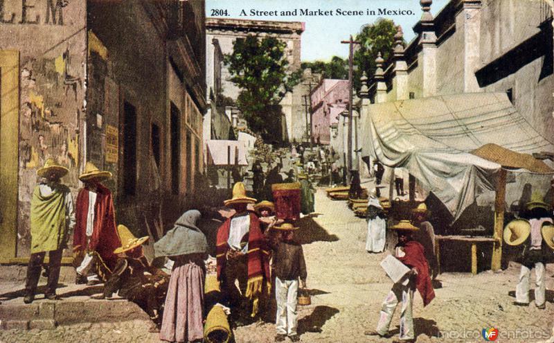 Típico mercado de calle