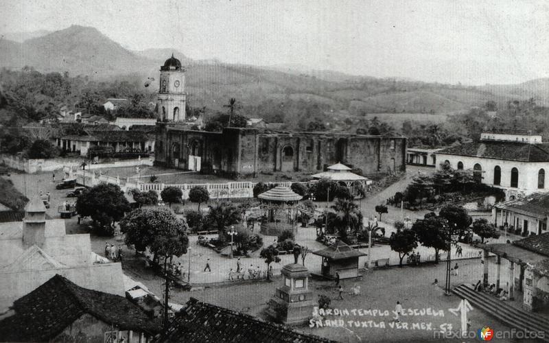 Fotos de San Andr�s Tuxtla, Veracruz, M�xico: Parque Lerdo e Iglesia Sa Jose
