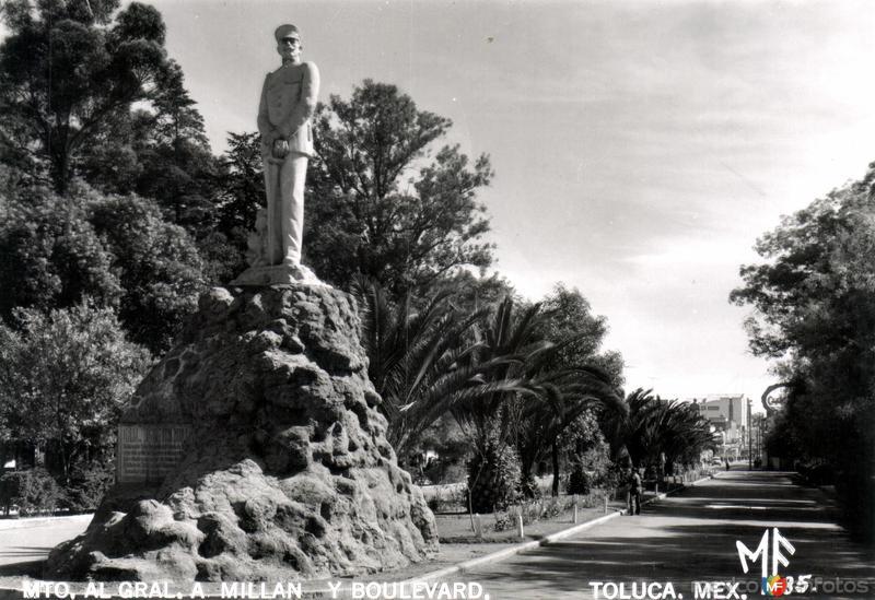 Monumento al Gral. Millán y Boulevard