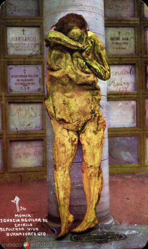 Momia de la Sra. Ignacia Aguilar de Chirilo, sepultada viva