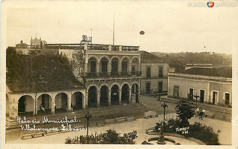 PALACIO MUNICIPAL DE VILLAHERMOSA, CENTRO, TAB. 1929