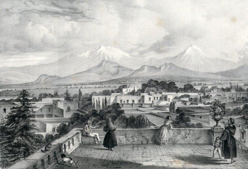 Vista de los volcanes, desde Tacubaya