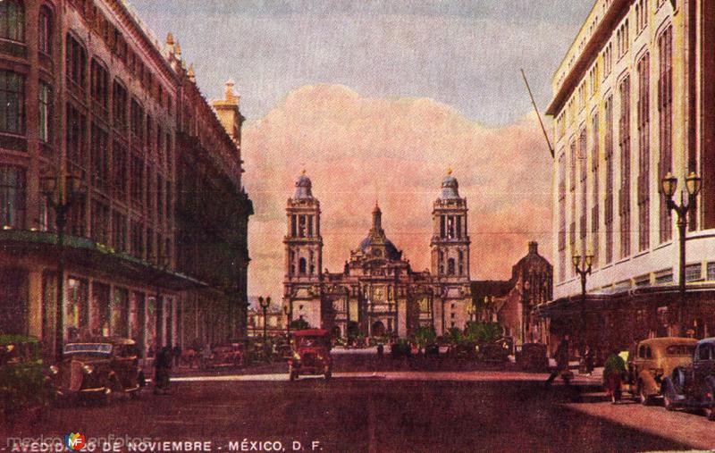 Avenida 20 de Noviembre y Catedral Metropolitana
