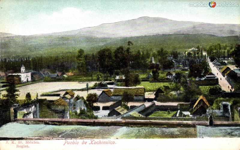 Vista del pueblo de Xochimilco