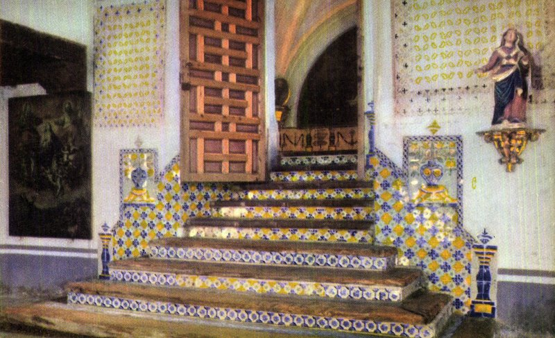 Entrada al coro del ex convento de Churubusco