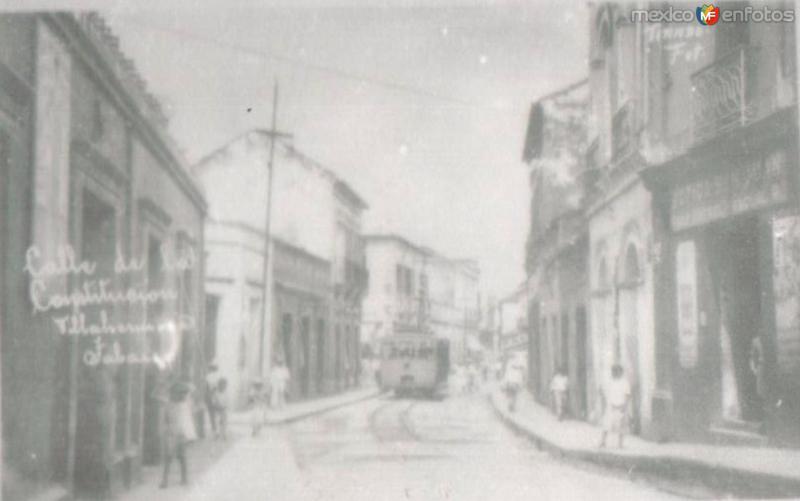 CALLE C0NSTITUCION, VILLAHERMOSA, TABASCO. 1926