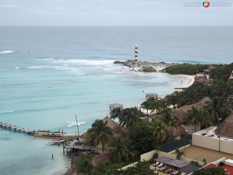 El faro de Punta Cancún. Noviembre/2013