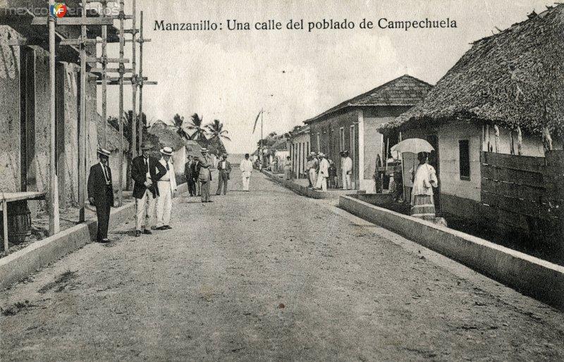 Fotos de Manzanillo, Colima, M�xico: Una calle del poblado de Campechuela