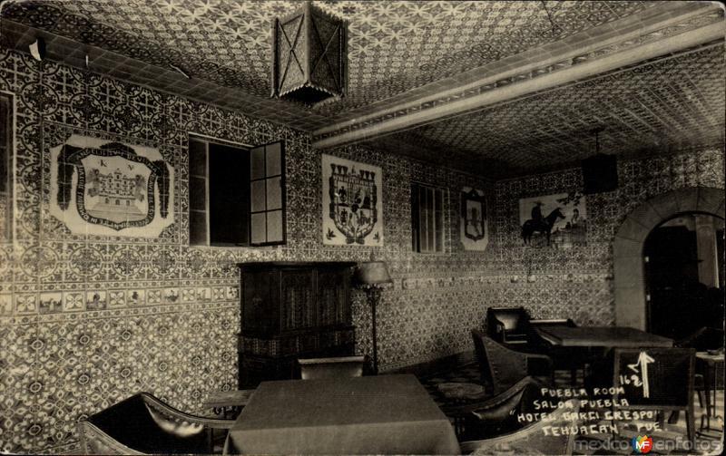 Salón Puebla, del Hotel Garci Crespo