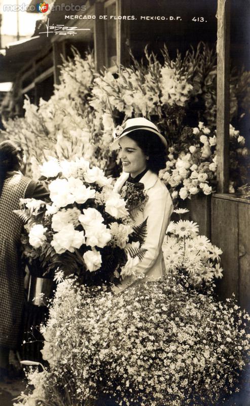 Señorita en el Mercado de Flores