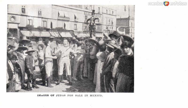 Venta de piñatas de Judas