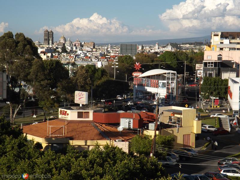 Vista hacia el centro histórico. Puebla. Diciembre/2013