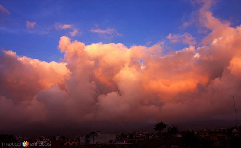 Nubes del ocaso sobre Chignahuapan