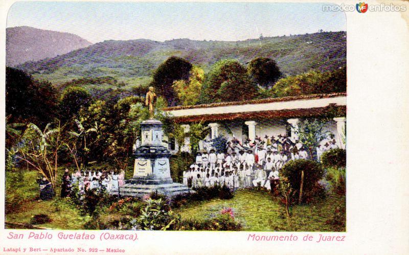 Fotos de Guelatao de Ju�rez, Oaxaca, M�xico: Monumento a Benito Ju�rez