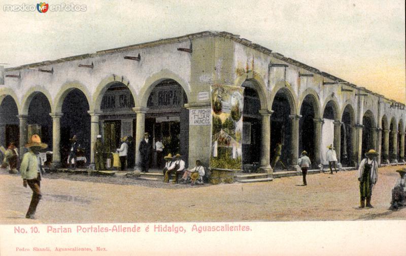 Portales Allende e Hidalgo, en el Parián