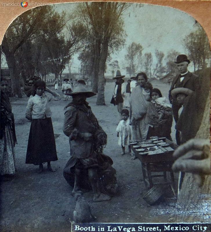 Puesto de vendimias en el canal de la Viga