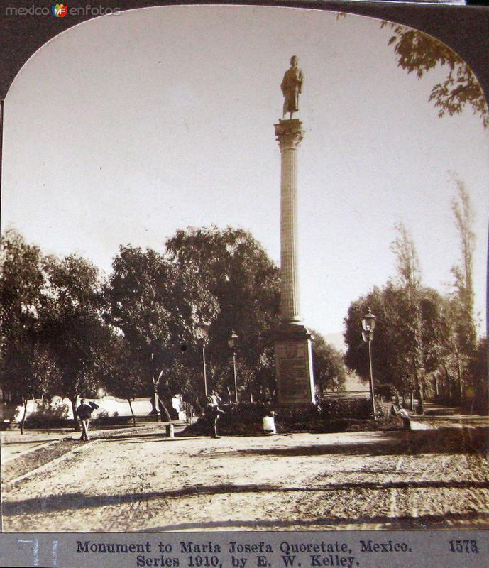 Mto a Josefa Ortiz de Dominguez Hacia 1900