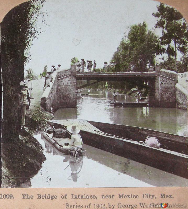 Puente de Ixtacalco Hacia 1900