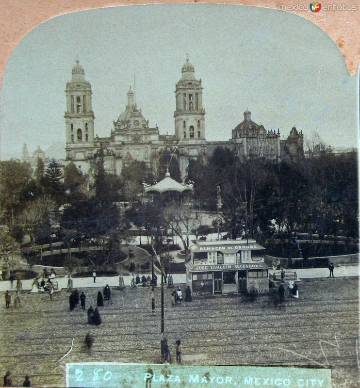 Plaza mayor Hacia 1900