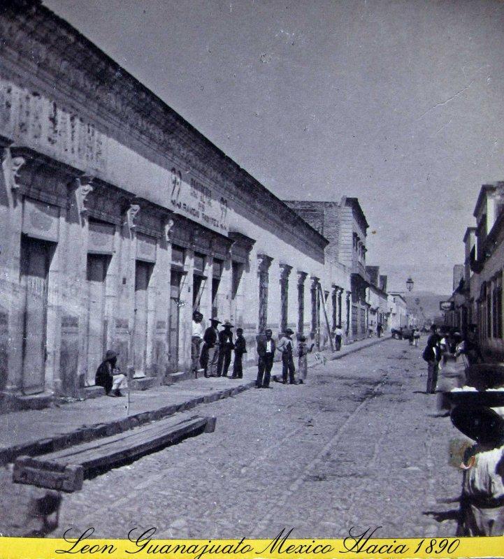 Calle escena Hacia 1900