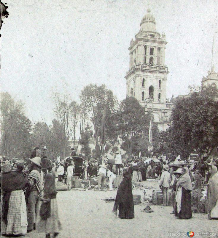Fotos de Ciudad de M�xico, Distrito Federal, M�xico: Plaza Mayor Hacia 1900
