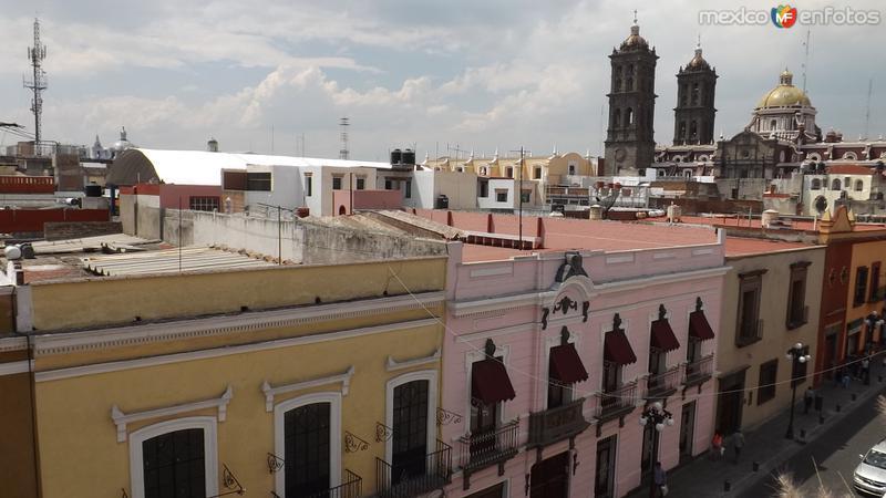 Torres de la catedral y calle 2 sur. Mayo/2014