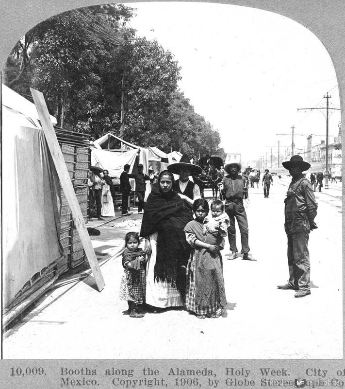 Puestos de Vendimias en la Alameda Hacia 1909
