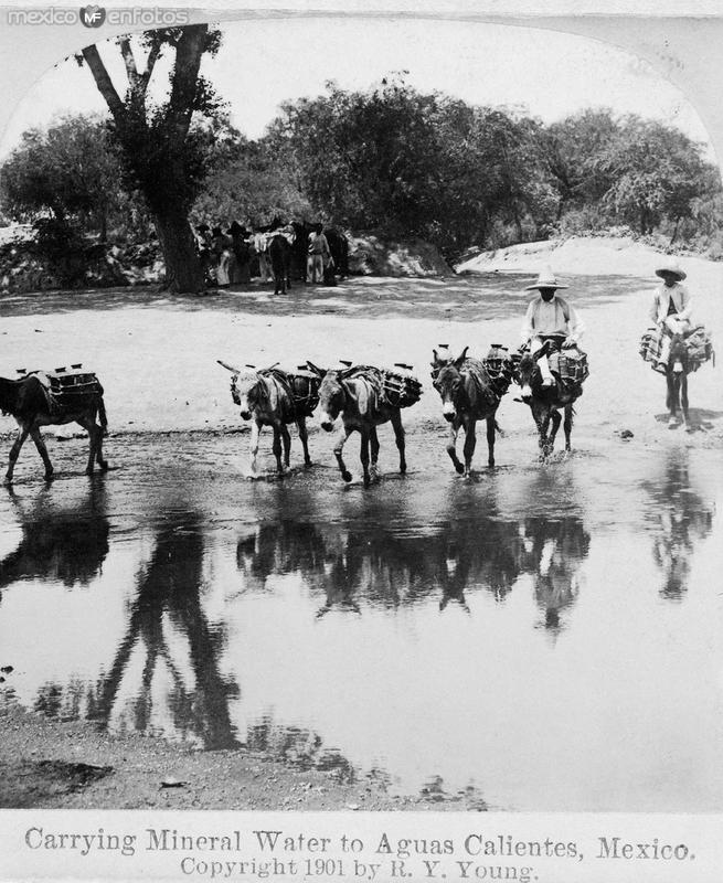 Fotos de Aguascalientes, Aguascalientes, M�xico: Vendedoresde Agua y Lena Hacia 1909