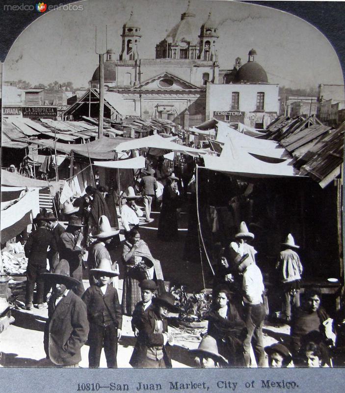 Mercado de San Juan Hacia 1900