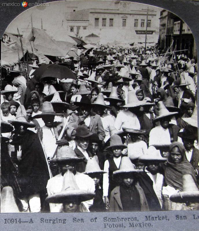 Un Mar de Sombreros Hacia 1900
