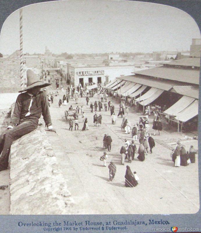 Vista del Mercado Hacia 1900
