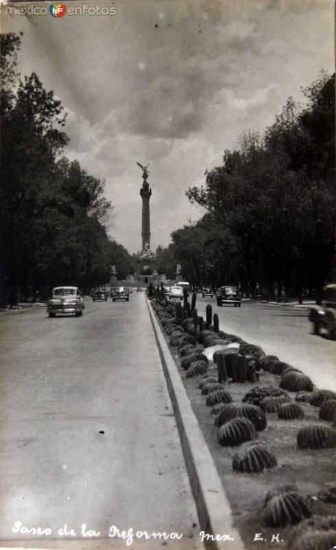Paseo de la Reforma Hacia 1945