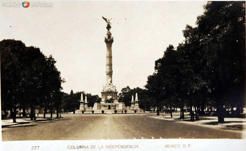 Columna de la Independencia Hacia 1930