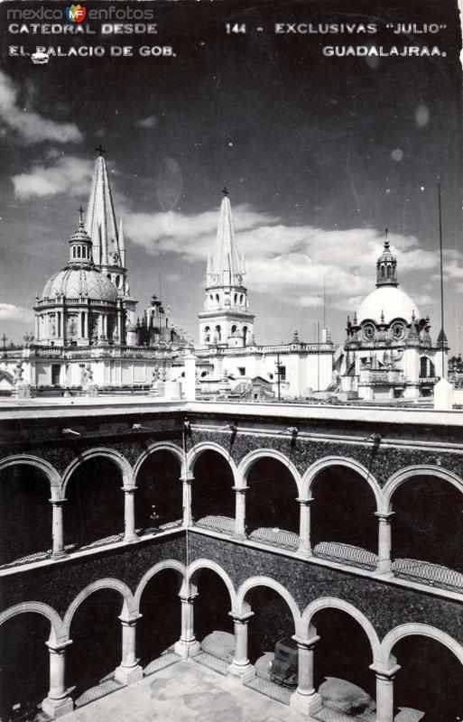 Catedral desde el Palacio de Gobierno
