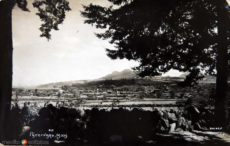 Fotos de P�tzcuaro, Michoac�n, M�xico: Panorama Hacia 1945