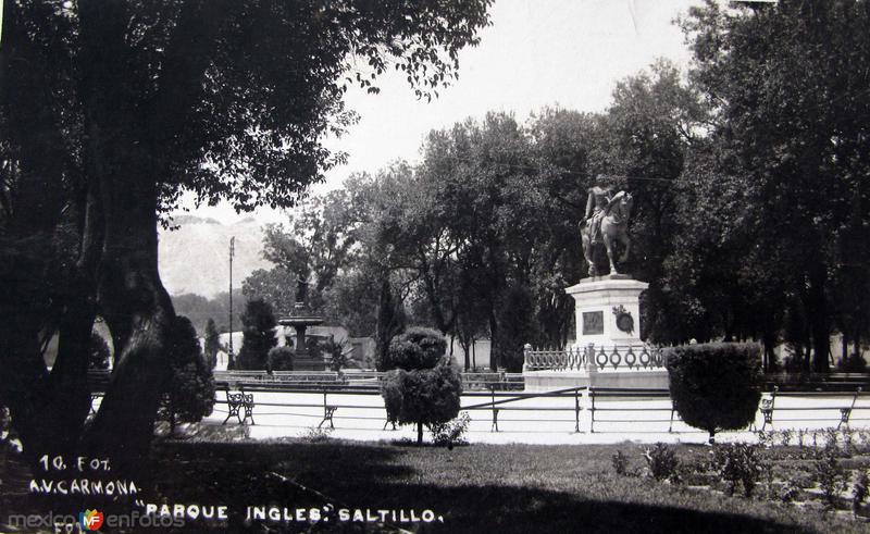 Fotos de Saltillo, Coahuila, M�xico: Parque Ingles Hacia 1945