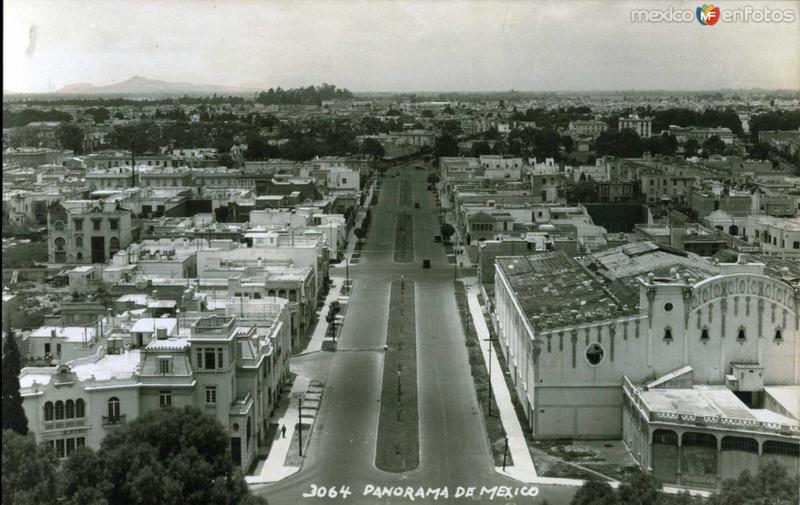 Panorama de Mexico por: HUGO BREHME Hacia 1930