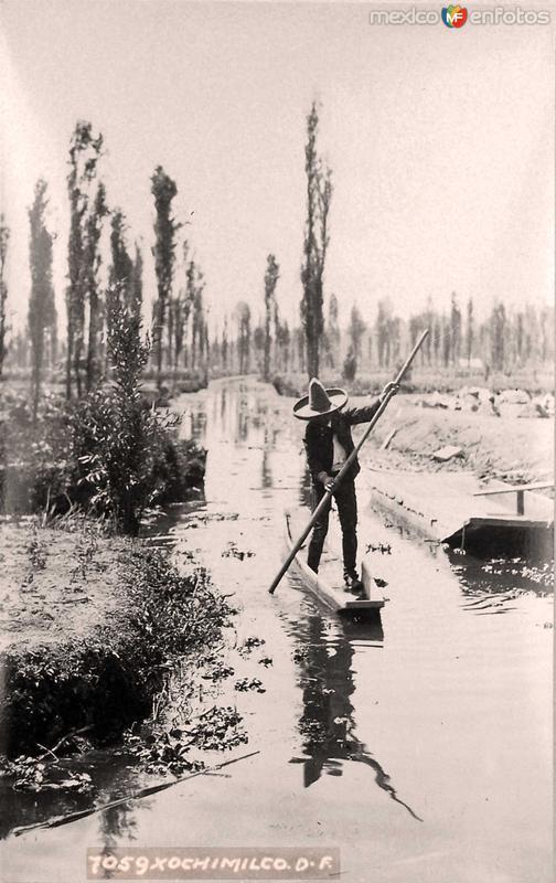 Xochimilco por HUGO BREHME Hacia 1930