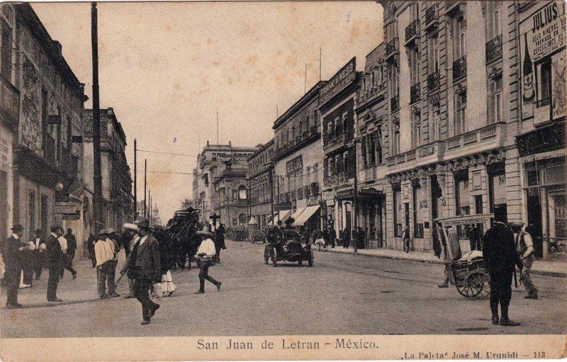 Calle San Juan de Letran Hacia 1900