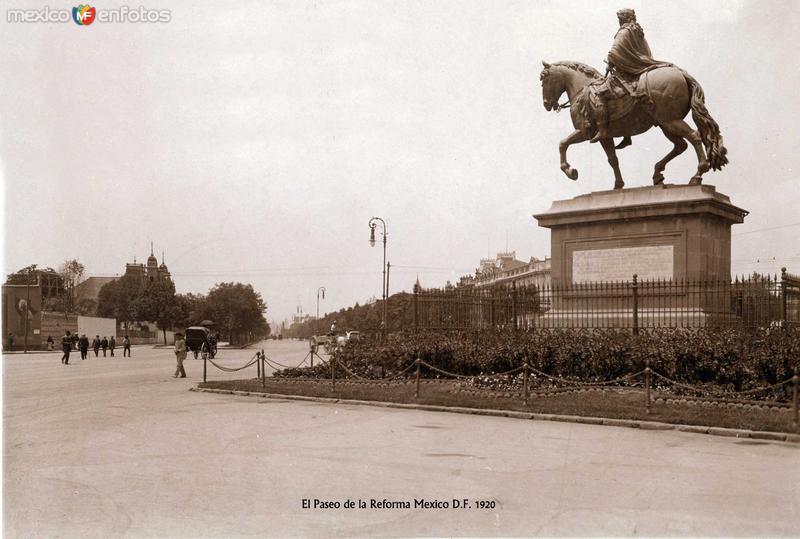 Paseo de la Reforma por HUGO BREHME Hacia 1930