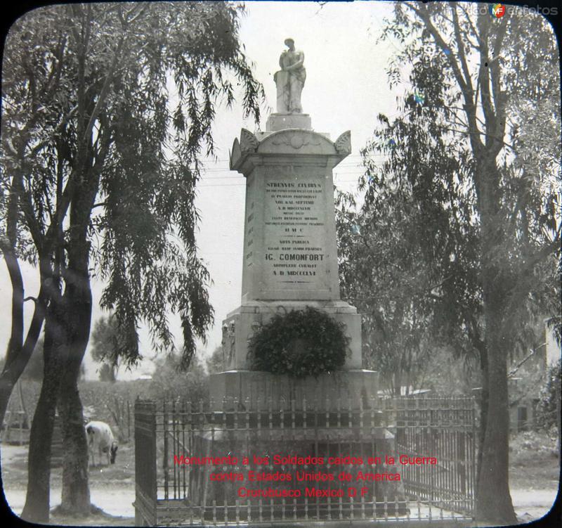 Mto. a heroes caidos en la Guerra Convento de Churubusco Hacia 1900
