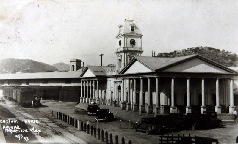Fotos de Nogales, Sonora, M�xico: La Aduana  Hacia 1940