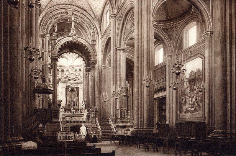 Interior de la Basílica de Guadalupe (circa 1920)