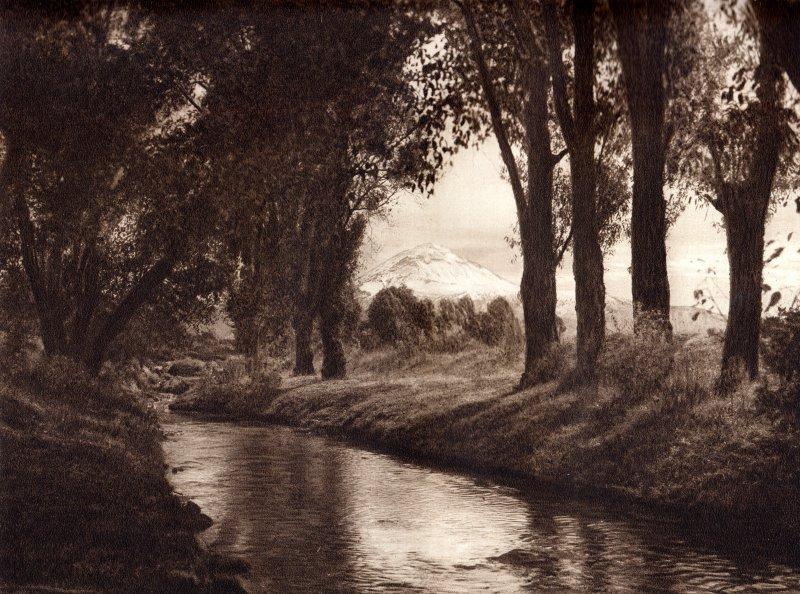 El Popocatépetl, desde Amecameca (circa 1920)