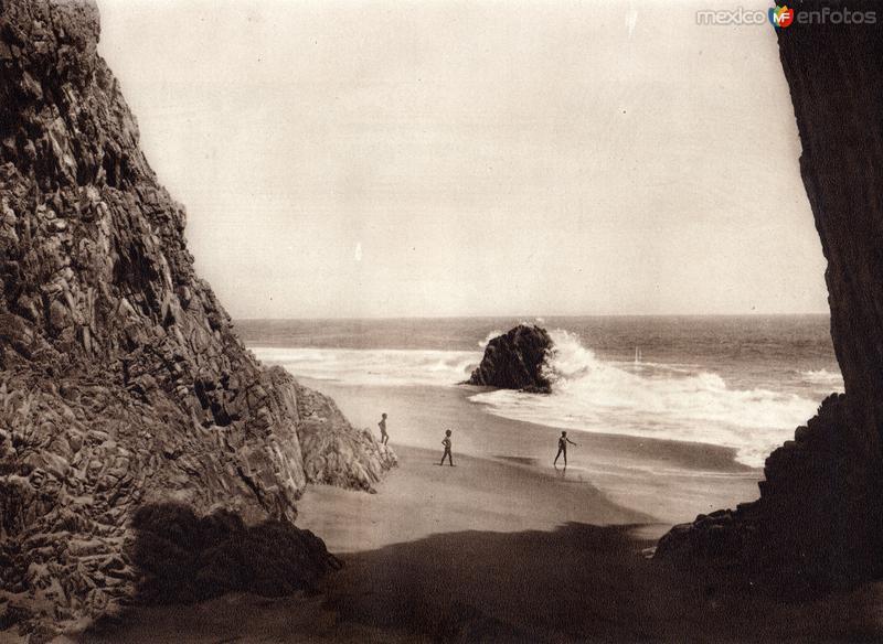 Fotos de Salina Cruz, Oaxaca, M�xico: Costa de Salina Cruz (circa 1920)