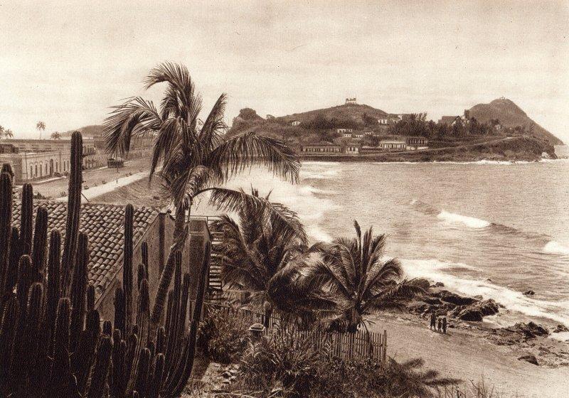 Zona de Olas Altas, en la Bahía de Mazatlán (circa 1920)