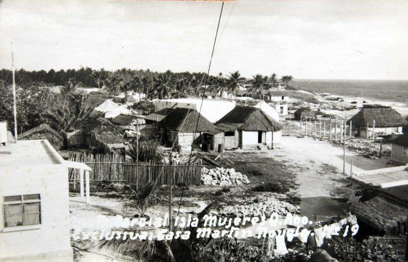Fotos de Isla Mujeres, Quintana Roo, México: Panorama Hacia 1945