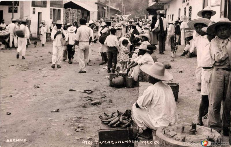 Mercado popular por HUGO BREHME Hacia 1930