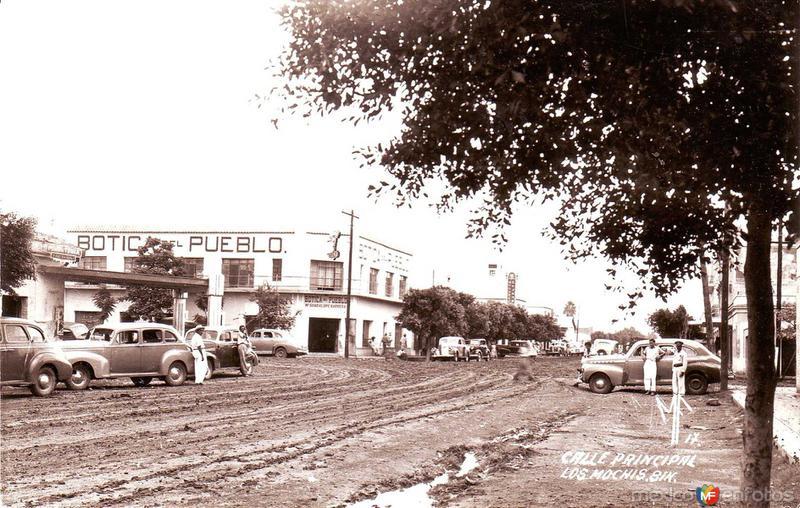 Fotos de Los Mochis, Sinaloa, M�xico: Calle Principal Hacia 1945